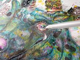 山海经异兽系列之夔牛