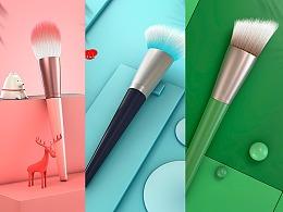 【含教程】用C4D毛发系统做的几个化妆刷