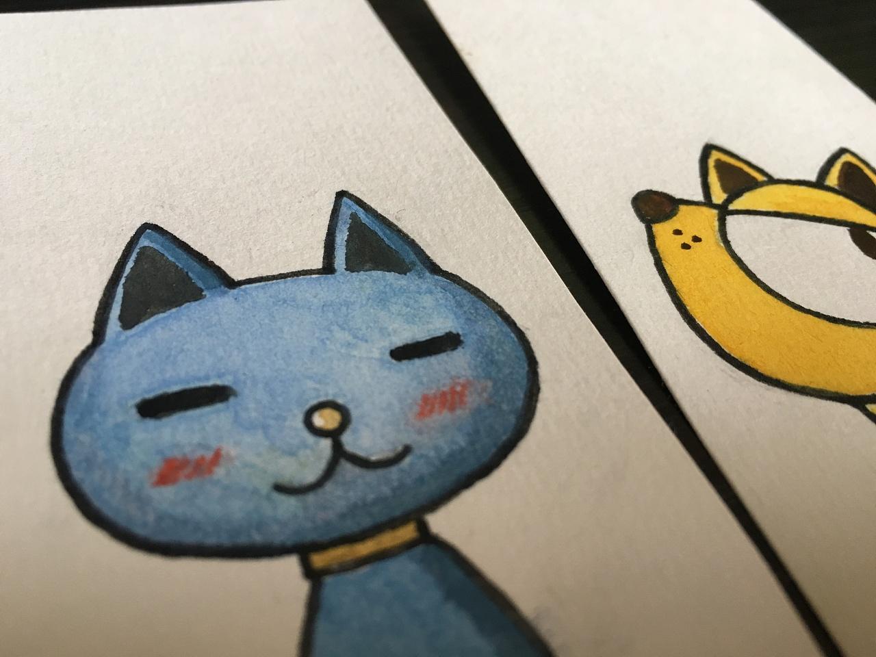 手绘卡通书签