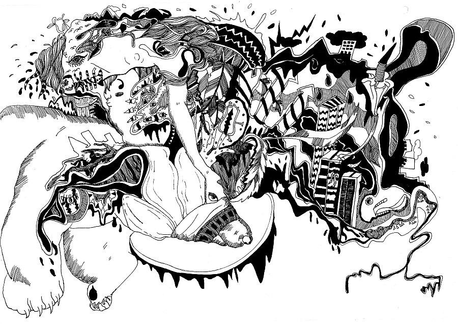自然生态手绘插画|商业插画|插画|tiin - 原创设计