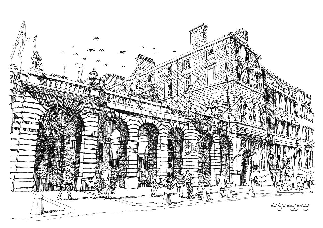 建筑设计手绘线稿表现技法|空间|建筑设计|代光钢