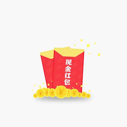 现金红包金币素材