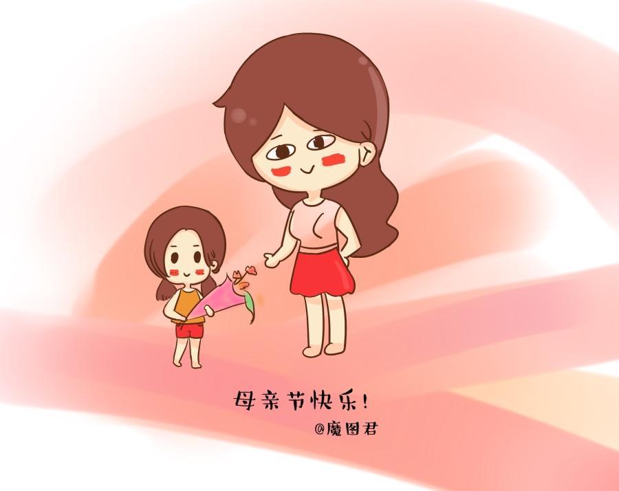 母亲节|单幅漫画|动漫|凤妹