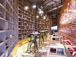 咖啡店设计连锁品牌店开发设计效果图空间咖啡店装修