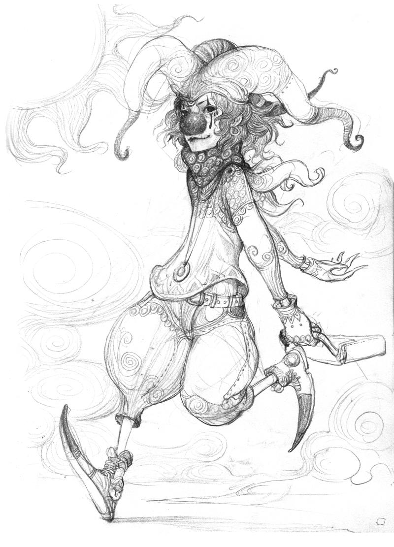 春哥怪兽手绘草图及角色概念设定之除草(二)