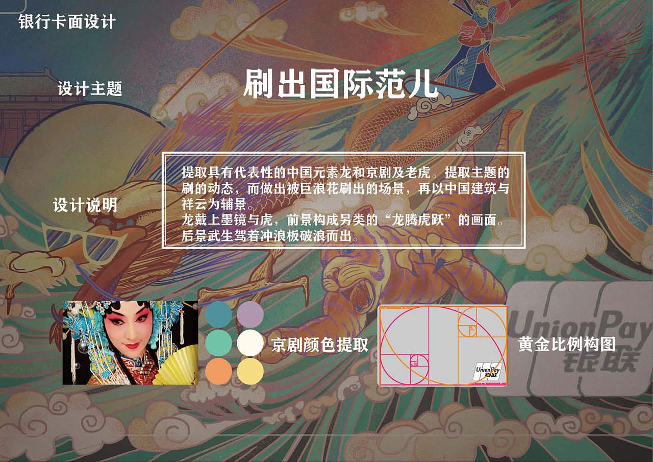 龙飞虎跃  国潮插画卡面设计