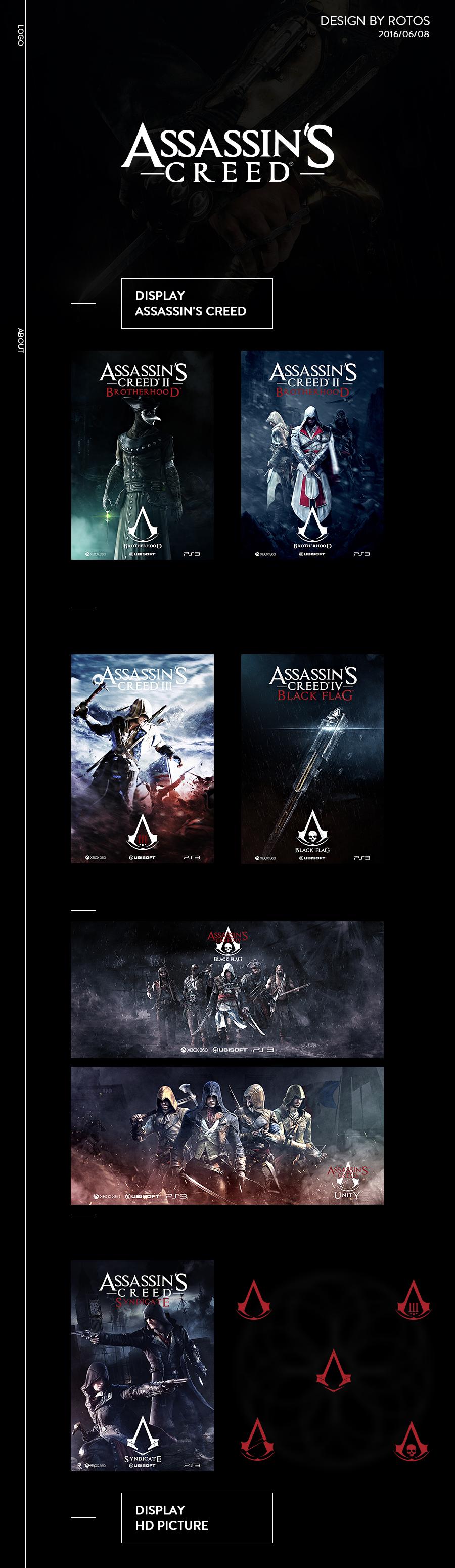 查看《【刺客信条】Assassin海报练习搞-分享PSD》原图,原图尺寸:900x3100