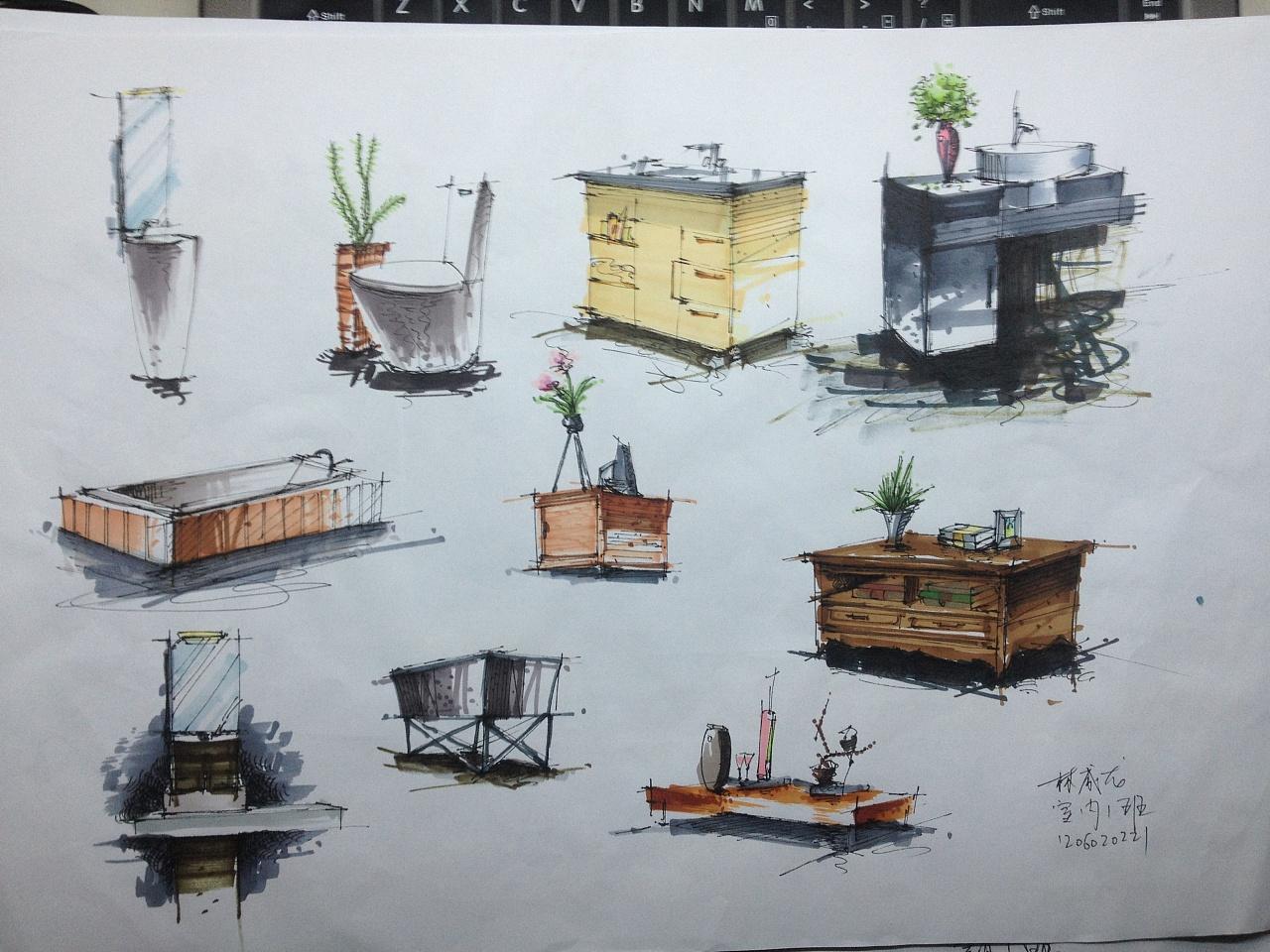 室内手绘作业|空间|室内设计|创艺者21 - 原创作品