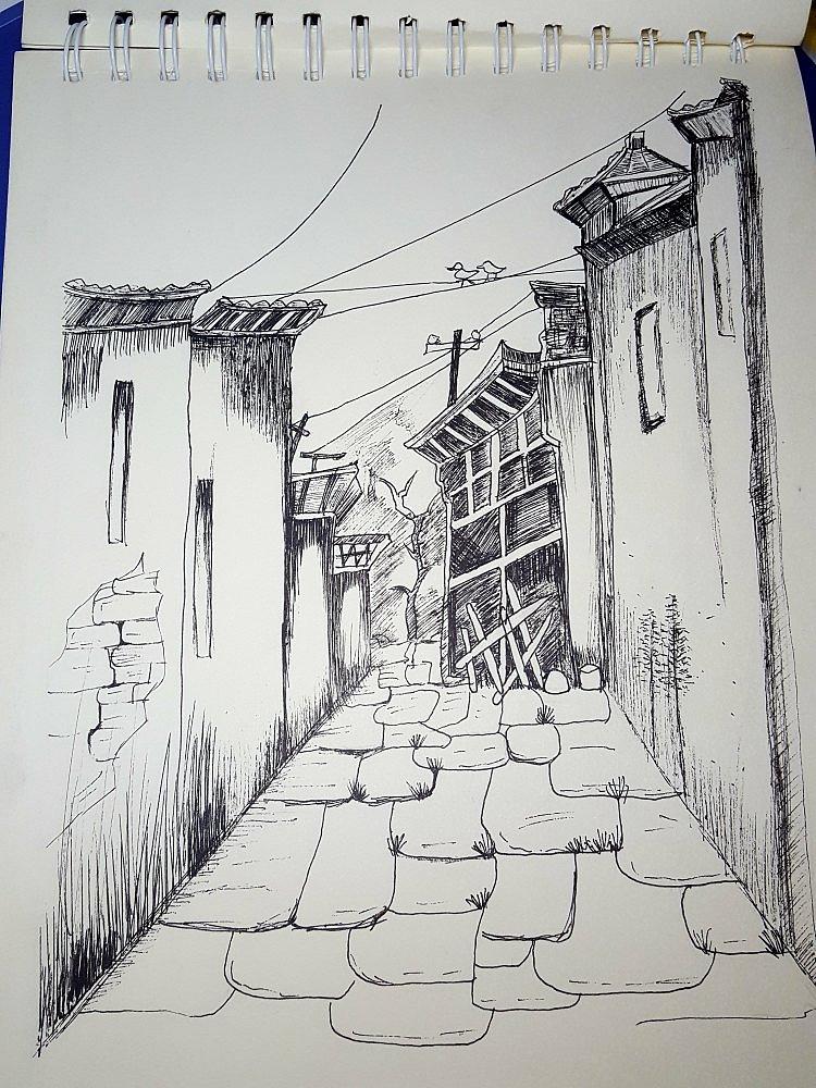 手绘作品|纯艺术|其他艺创|稻草田 - 原创作品 - 站酷