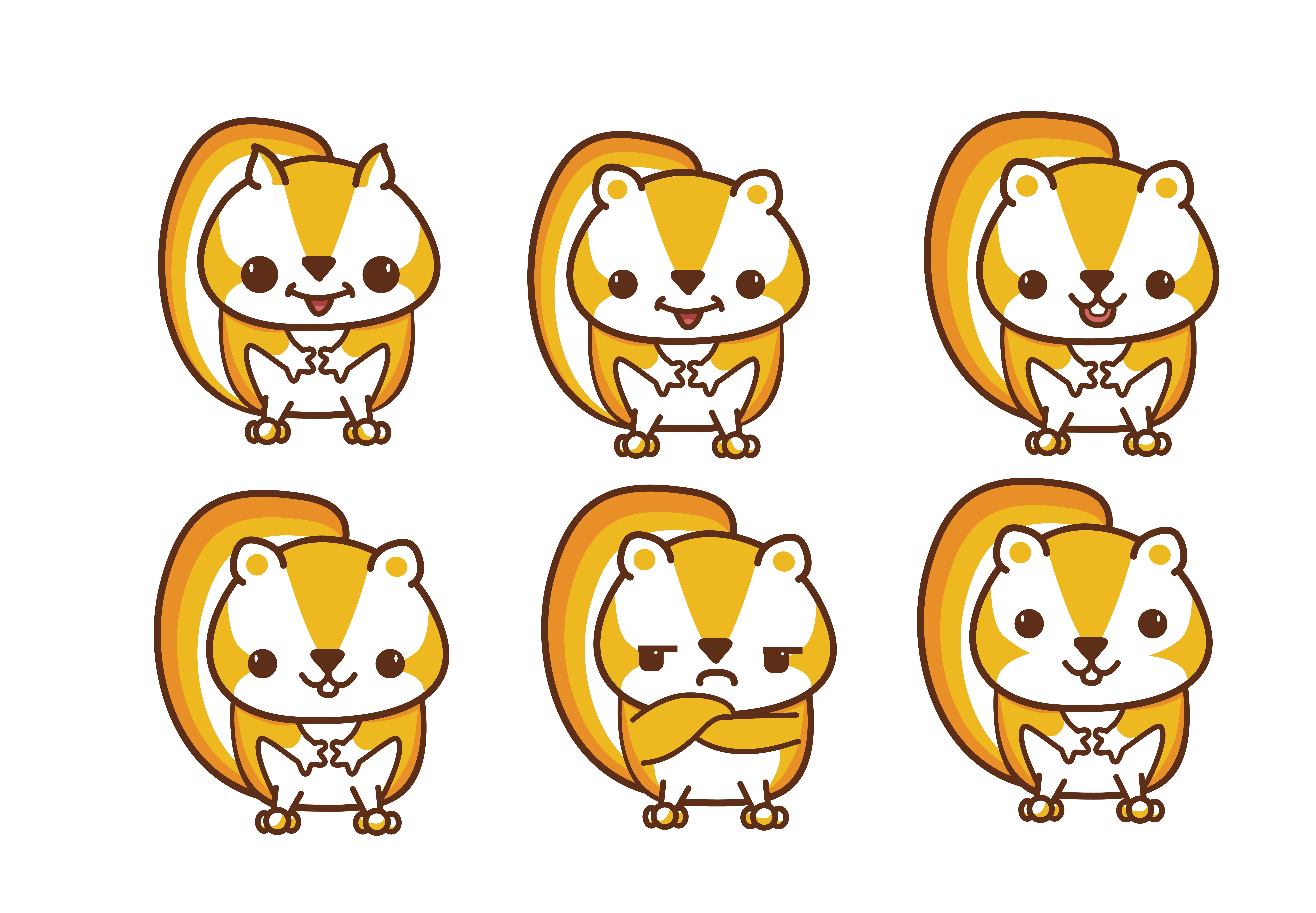 松鼠 卡通形象设计 插画