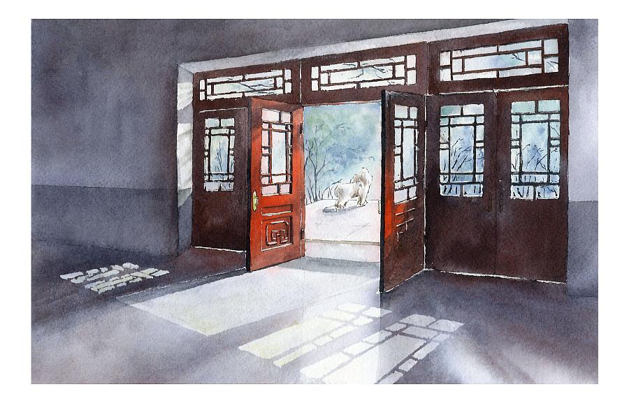 南农主楼手绘图