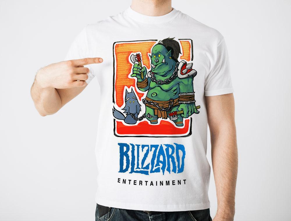 手绘魔兽t恤图案