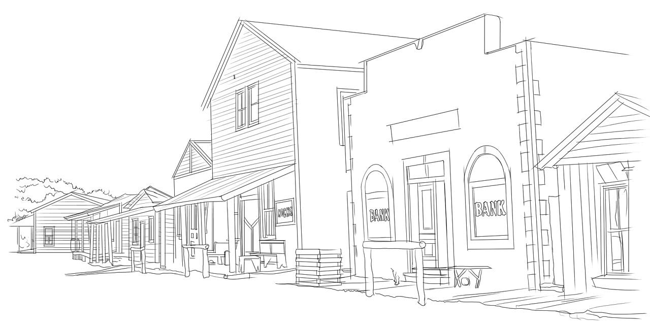 手绘建筑|插画|插画习作|若相熙 - 原创作品 - 站酷图片