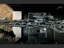 九素(北京)原创机械装置雕塑---枪火系列
