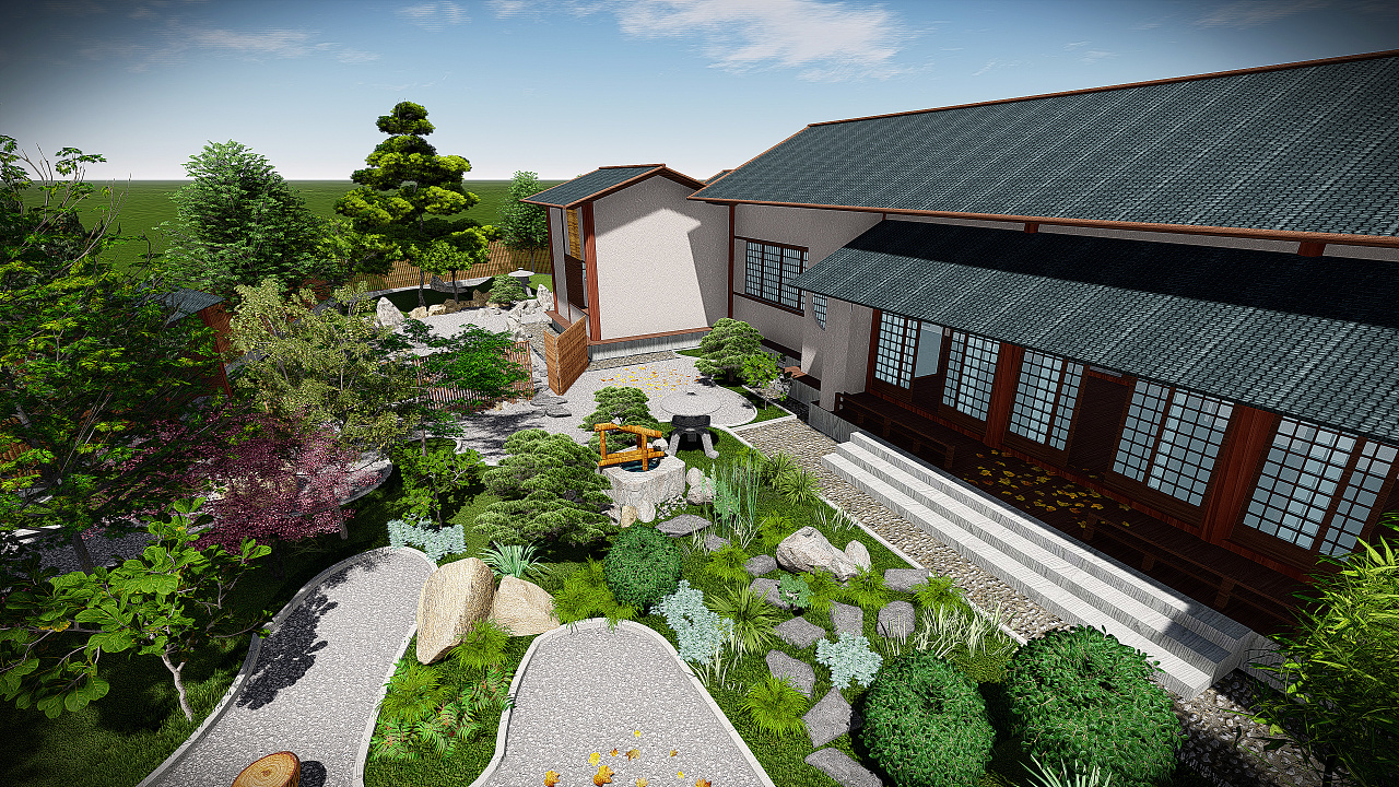 日式庭院景观设计图片