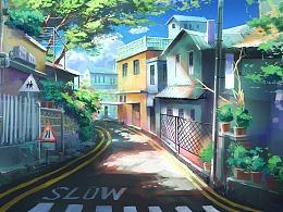 小街道场景设计