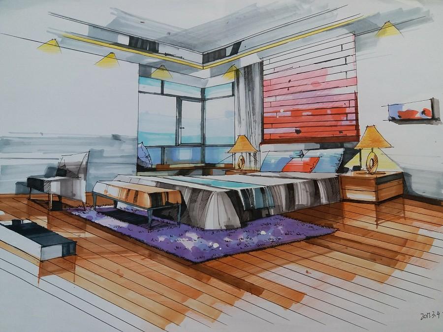 《室内手绘》稿