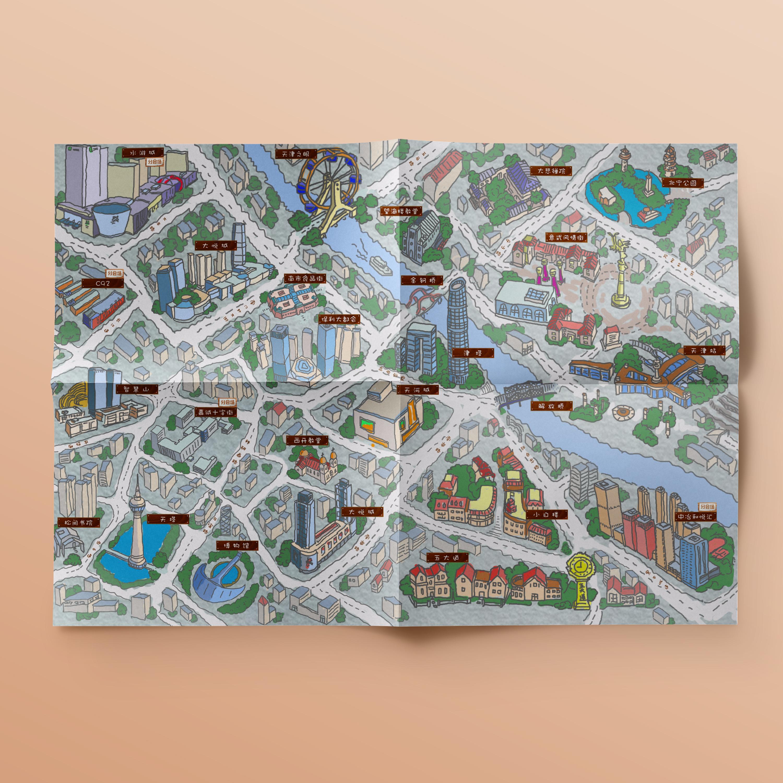 2018京津冀文创 手绘地图