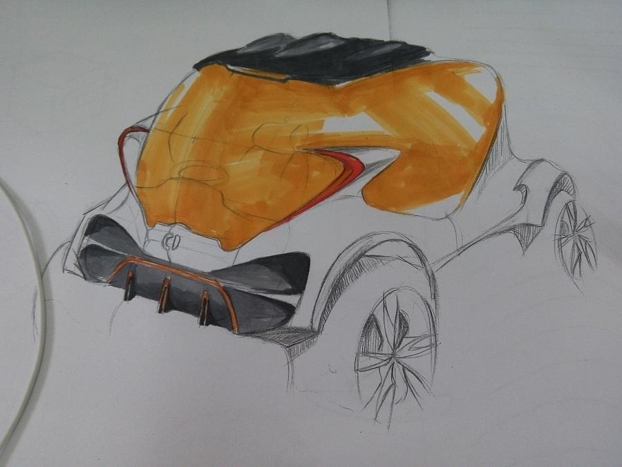 汽车马克笔手绘练习