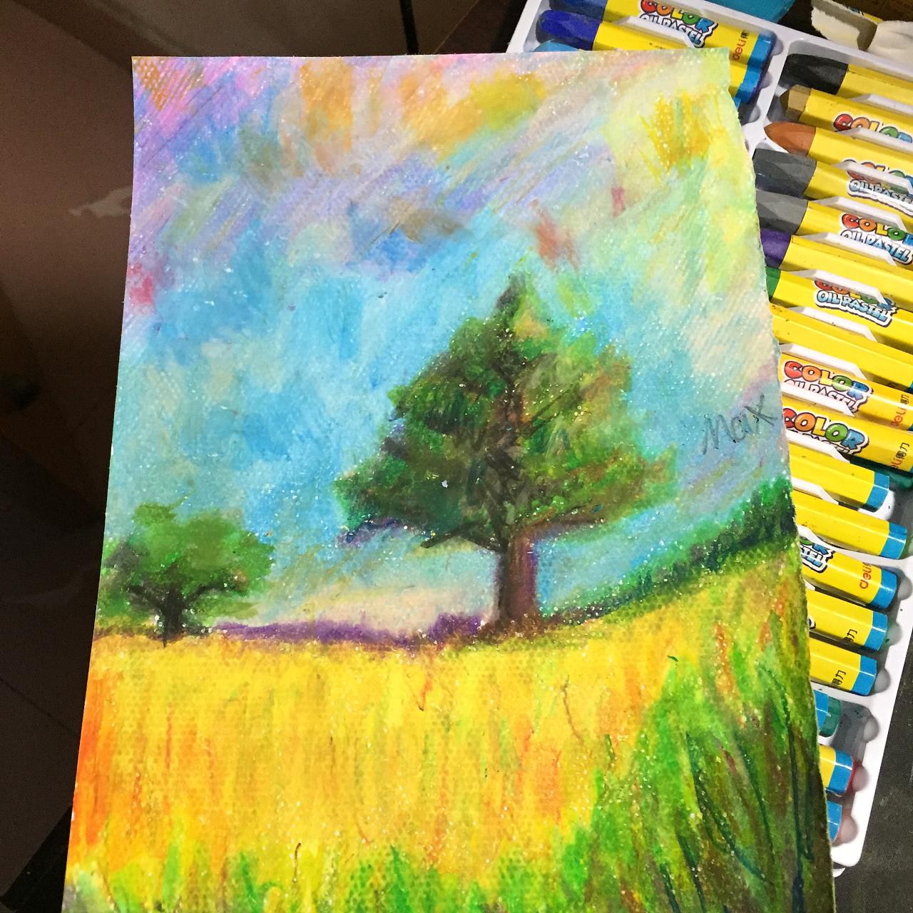 油画棒手绘练习