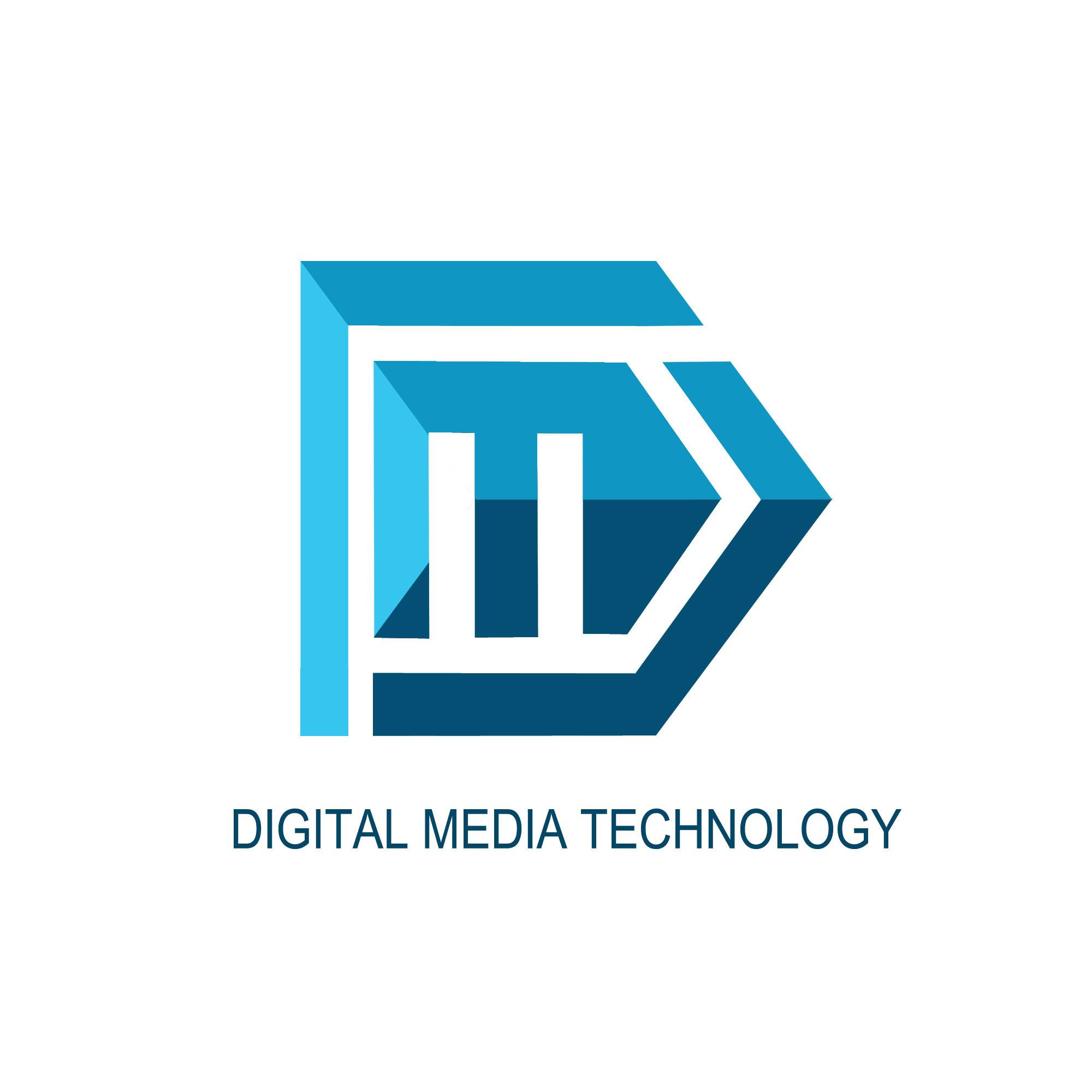 数字媒体技术专业logo设计习作图片