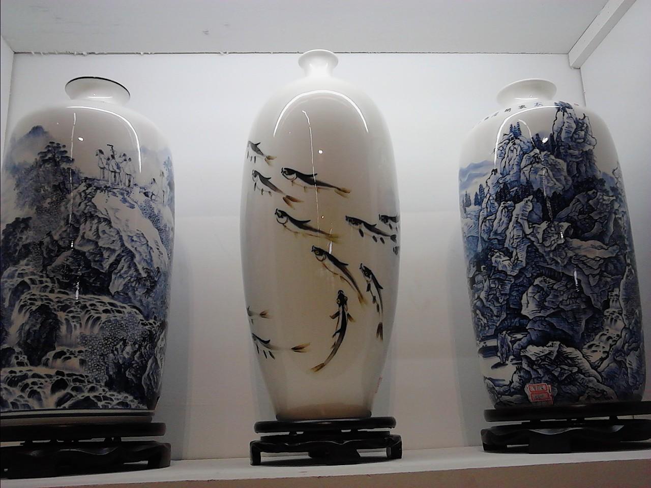 淄博陶瓷展览彩绘模特