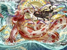《肆荒》—神话主题古风插画