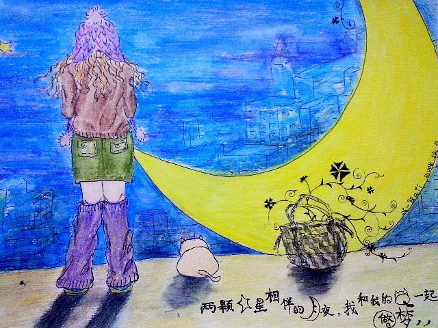 静夜思|插画|商业插画|x_kaii - 原创作品 - 站酷