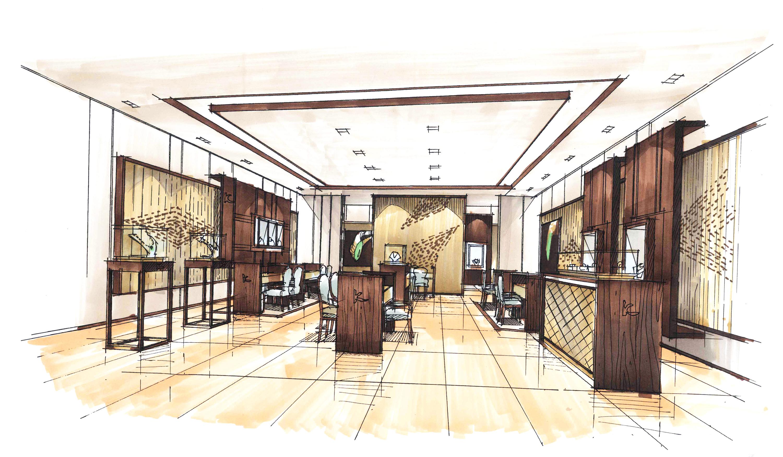 室内手绘作品|空间|室内设计|虎子陈珍 - 原创作品