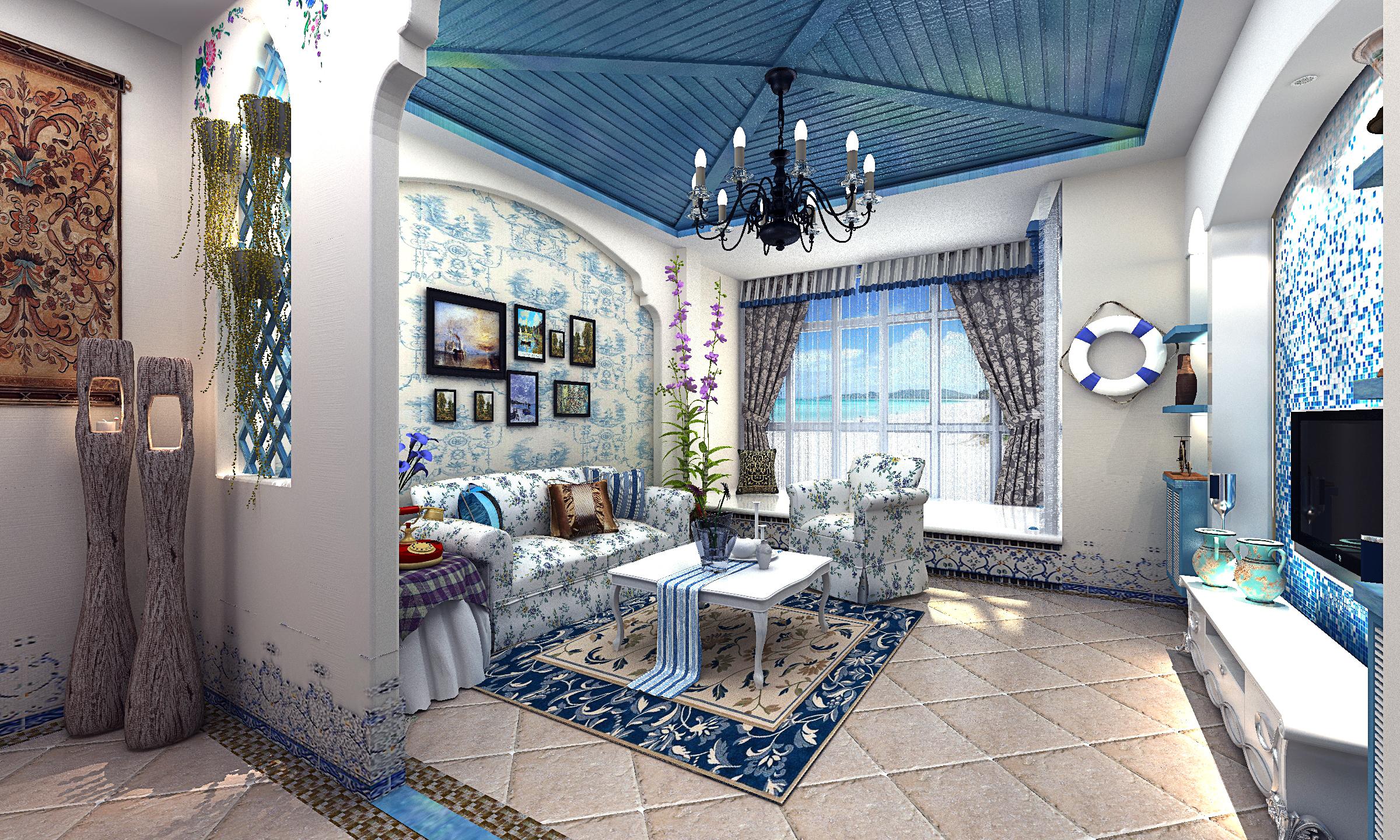 地中海 田园|空间|室内设计|_淡然_ - 原创作品