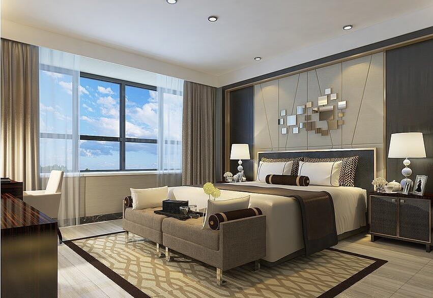 正商城装修效果图144平后现代风格三室两厅设计案例