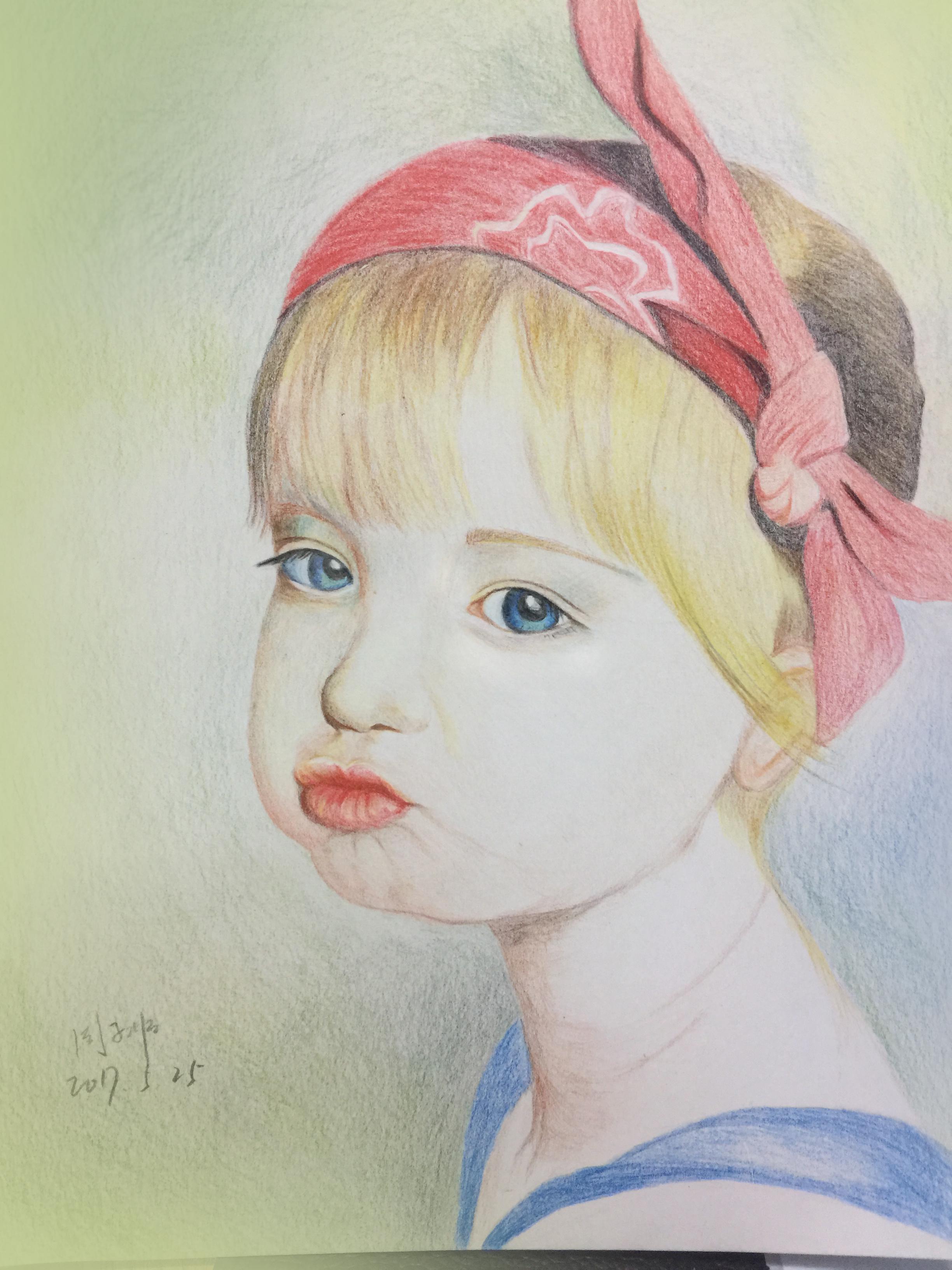 手绘小女孩