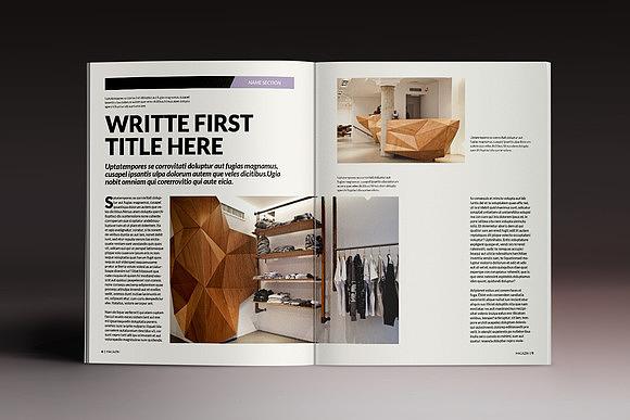 企业画册杂志indesign模板图片