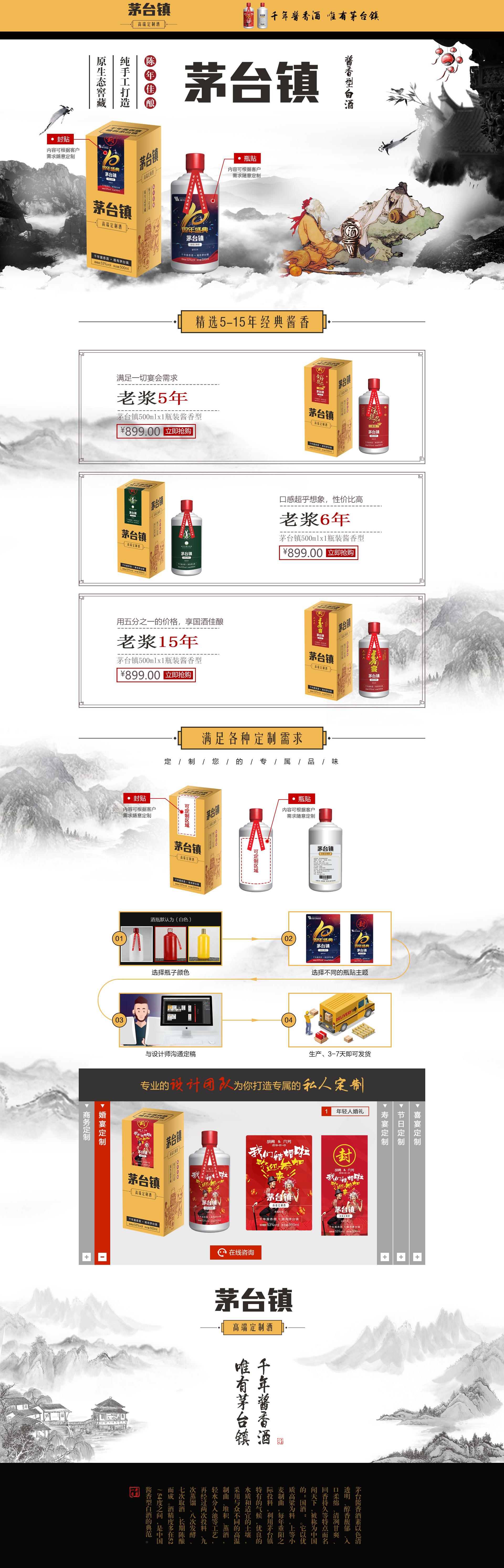 标签:天猫店铺电商网站设计定制酒 二圆图片