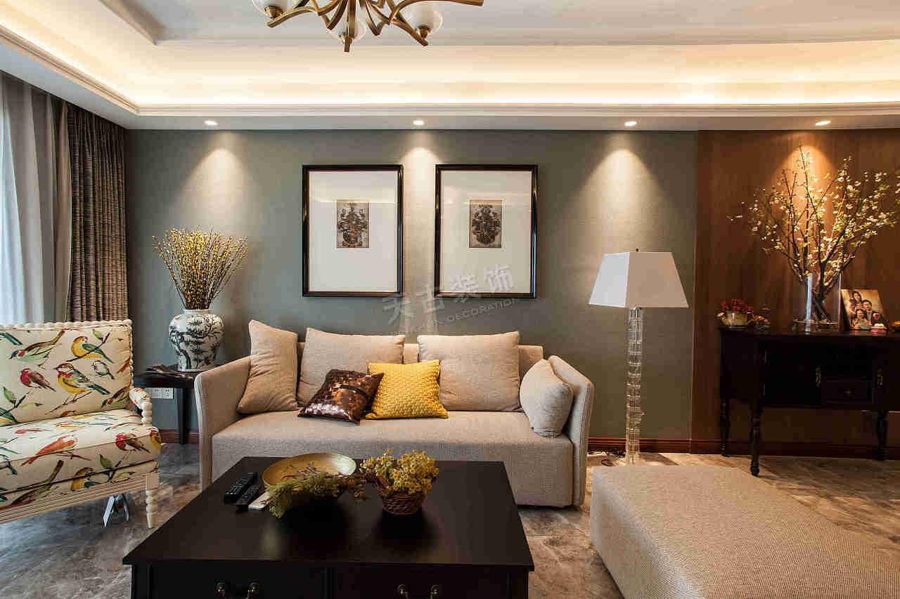 工程地址:万科御澜道 工程造价:70万(含家具,软装) 设计风格:现代轻奢图片