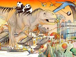 / 恭贺新禧 / - 跟随恐龙度过欢乐时光