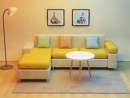 客厅沙发(c4d)