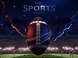 橄榄球合成海报(临摹练习)