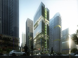 Aedas深圳传音大厦,构建互联共享企业名片/lumion动画
