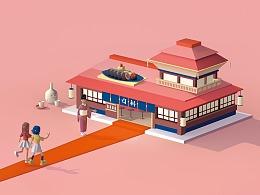 「口碑·吃饭排队焦虑症」地铁海报设计