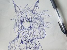 圆珠笔绘画练习(1)