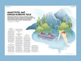 给瑞士杂志Schweizer Familie Magazine的一组插画