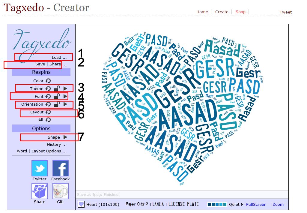 形状填充文字网页工具生成图片