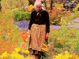 《妇人与花》