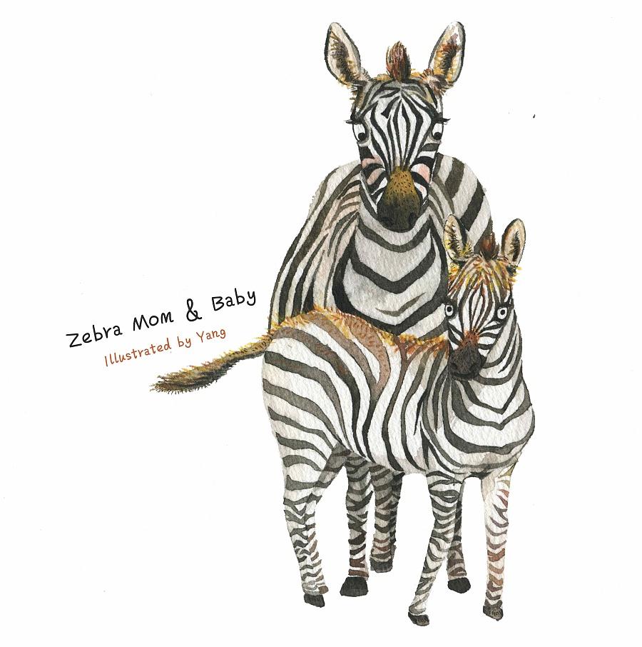 动物妈妈和宝宝|儿童插画|插画|三羊爱画画