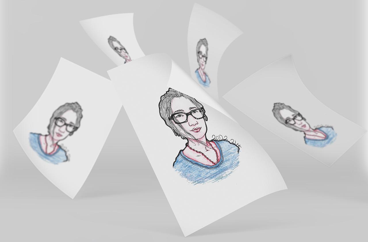 手绘人物插画练习