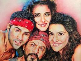 我的彩铅画~印度电影Dilwale慷慨的心