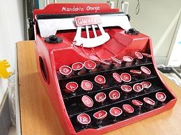 ABS板制作复古打字机模型