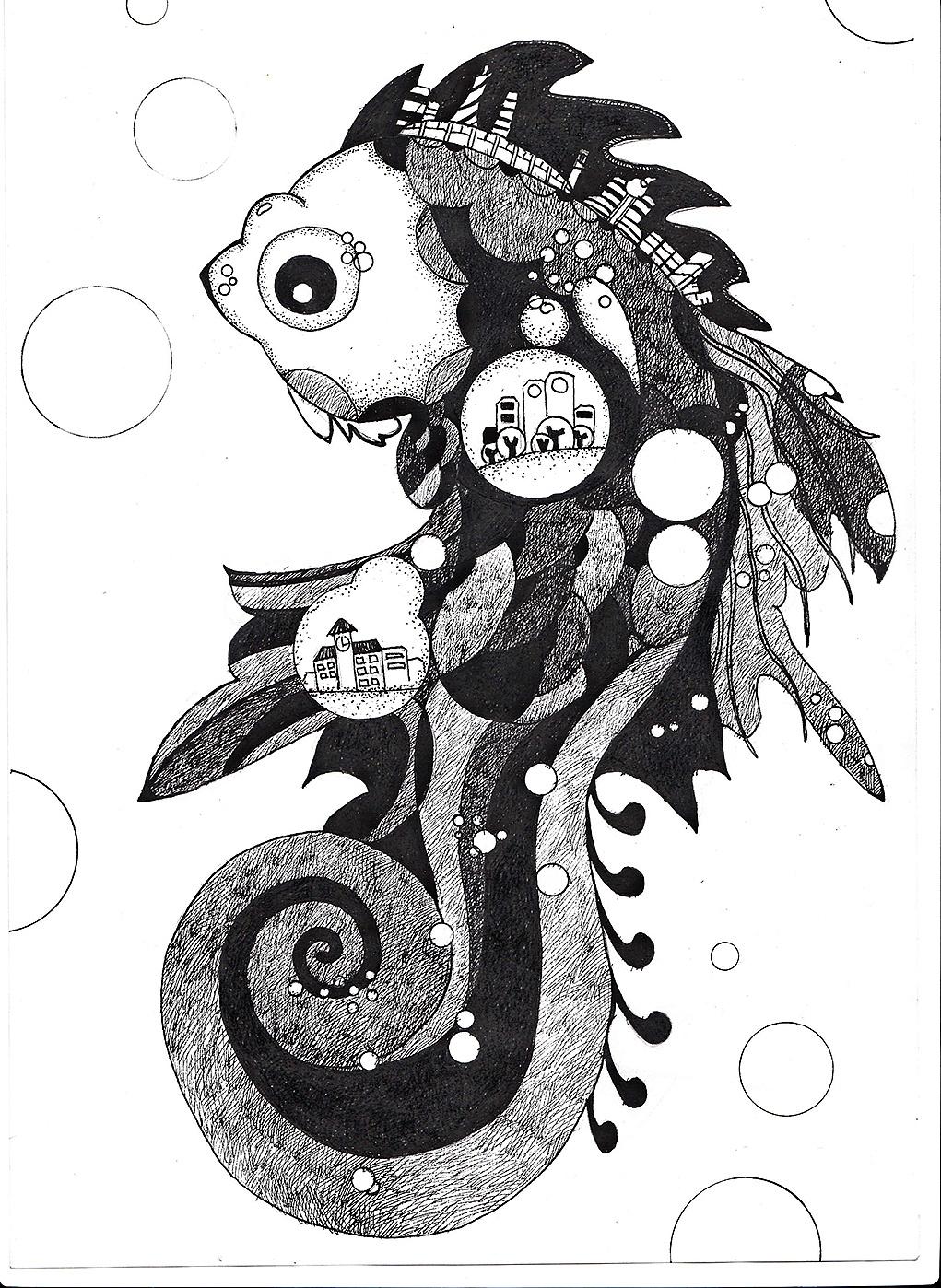 概念插画系列——黑白手绘|插画|商业插画|黄晴雨