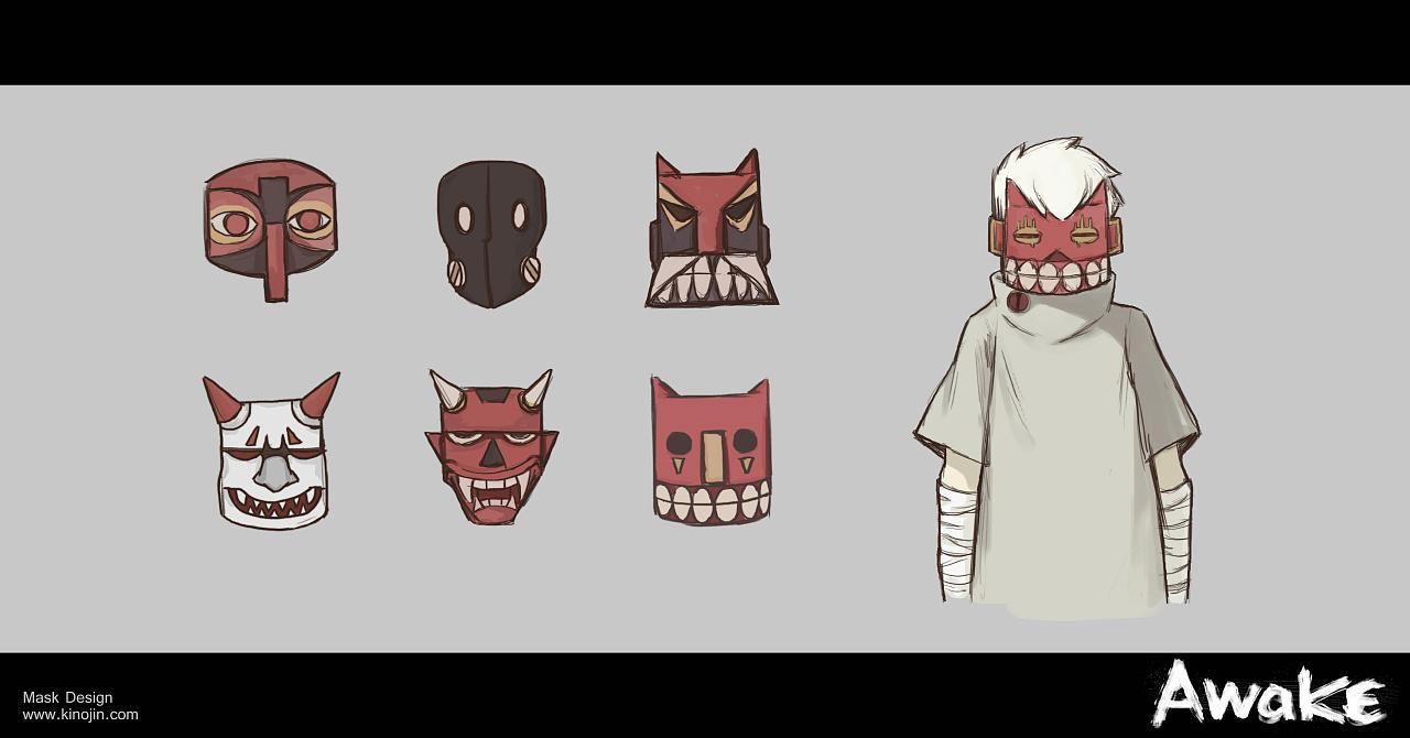 awake 二维动画角色设定与海报设计